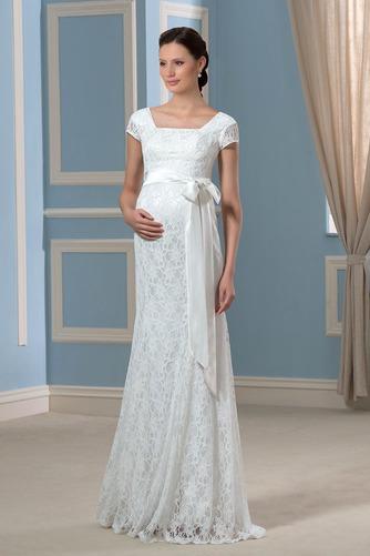 Vestido de novia Embarazadas Cremallera Imperio Cintura primavera Cola Barriba - Página 1
