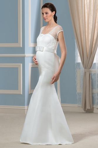 Vestido de novia Escote Cuadrado Imperio Cintura Lazos Playa Hasta el suelo - Página 3