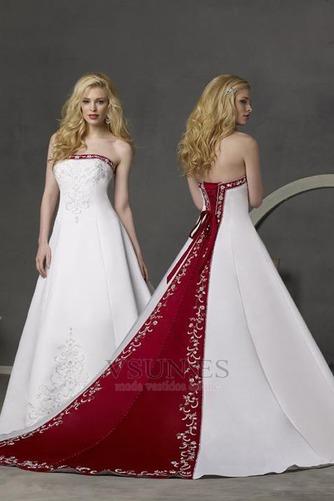 Vestido de novia Bordado Espalda medio descubierto Sala Elegante gris claro - Página 1