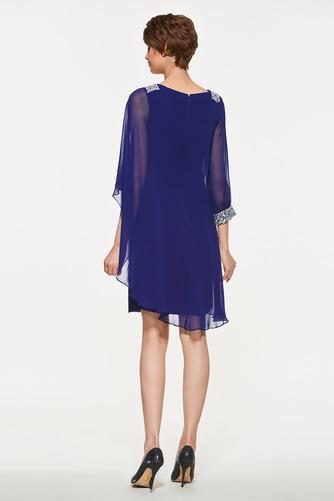 Vestido de madrina primavera Moderno Triángulo Invertido Natural Gasa - Página 2