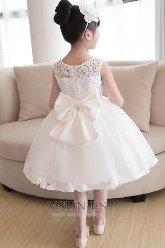Vestido niña ceremonia Joya Arco Acentuado Otoño Falta Natural Hasta la Rodilla - Página 2
