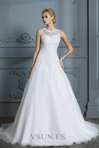 Vestido de novia Joya Encaje Falta Sala Corte-A Natural - Página 4