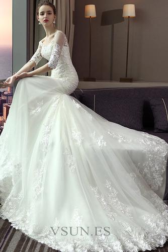 Vestido de novia largo Espalda Descubierta Formal Playa Encaje Corte Sirena - Página 3