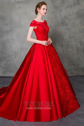 Vestido de novia Corte-A Triángulo Invertido Escote con Hombros caídos - Página 1