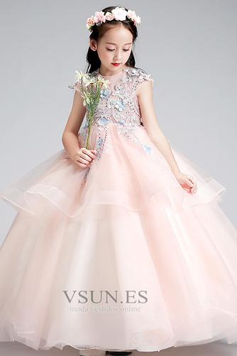 Vestido niña ceremonia Joya Natural Falta Formal Cremallera Apliques - Página 3
