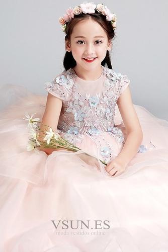 Vestido niña ceremonia Joya Natural Falta Formal Cremallera Apliques - Página 5