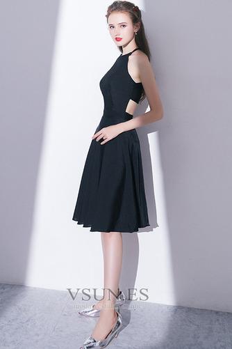 Vestido de cóctel Elegante Falta Corte-A Natural Sin mangas Hasta la Rodilla - Página 6