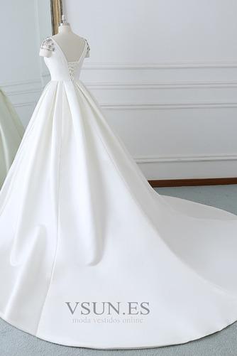 Vestido de novia Iglesia Natural primavera Falta Espalda Descubierta - Página 2