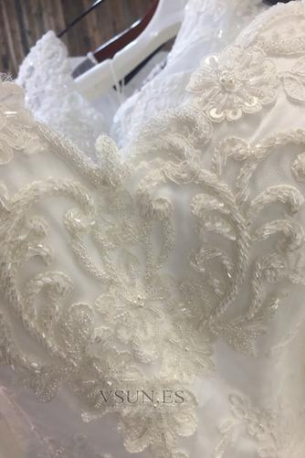 Vestido de novia Verano Cremallera Encaje Natural Sala Mangas Illusion - Página 5