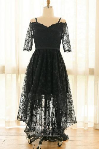 Vestido de fiesta Escote con Hombros caídos Asimètrico Cordón Elegante - Página 5