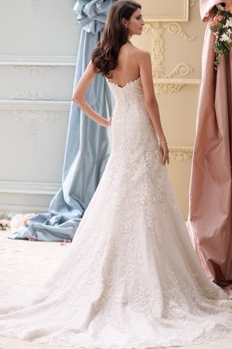 Vestido de novia Sin mangas Natural primavera Corte-A Cola Capilla Escote Corazón - Página 2