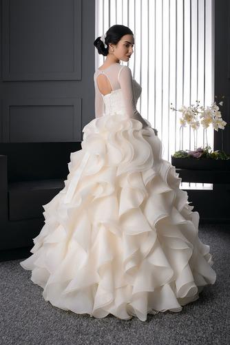 Vestido de novia Corte princesa Moderno Joya Organza Invierno Cordón - Página 2