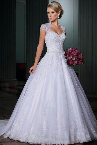 Vestido de novia Clasicos Abalorio Natural Queen Anne Otoño tul - Página 2