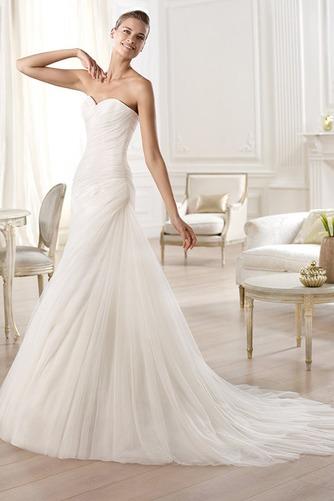 Vestido de novia tul Con velo largo Plisado Sala Natural - Página 1
