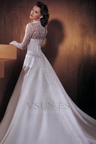 Vestido de novia Con Chaqueta Mangas Illusion Sin tirantes Reloj de Arena - Página 2