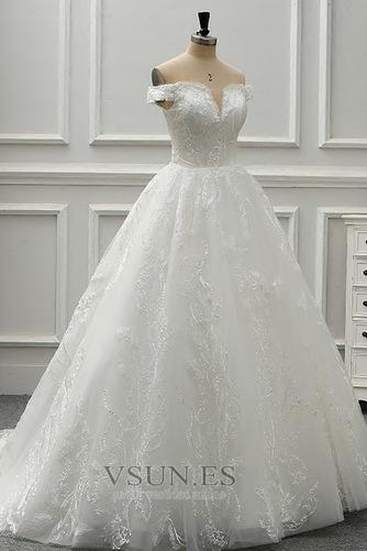 Vestido de novia Rectángulo Cola Catedral Moderno tul Corte-A Iglesia - Página 2