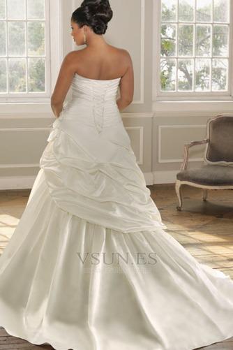 Vestido de novia 2015 Blusa plisada Hasta el suelo Flores Sin mangas - Página 2