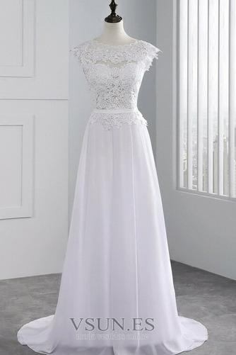 Vestido de novia Encaje Hasta el suelo Joya Fuera de casa Verano Natural - Página 3