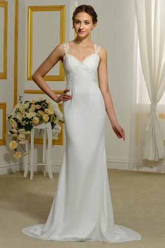 Vestido de novia Tallas pequeñas Playa Volantes Adorno Tiras anchas - Página 1