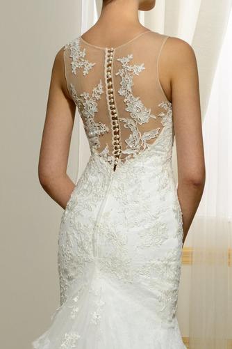 Vestido de novia Playa Invierno Barco Natural largo Tallas pequeñas - Página 5