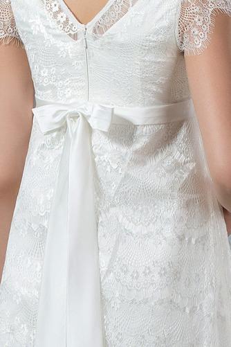 Vestido de novia Romántico Embarazadas Otoño Encaje Cremallera Hasta el suelo - Página 4