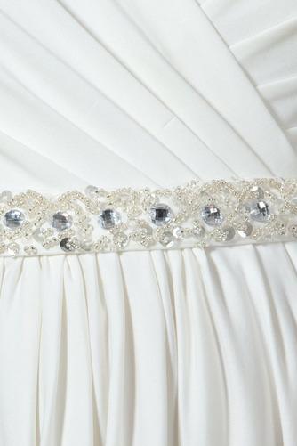 Vestido de novia Embarazadas Cola Barriba Imperio Cintura Espalda Descubierta - Página 6