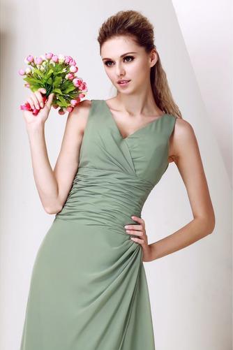Vestido de dama de honor Corte-A Triángulo Invertido Elegante Cremallera Escote en V - Página 4