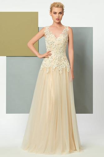 Vestido de noche Elegante Corte-A Natural Hasta el suelo Espalda Descubierta - Página 2