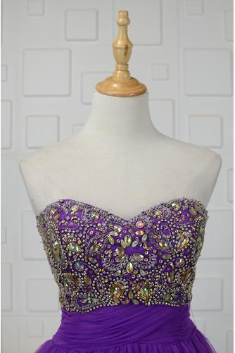 Vestido de cóctel Corte-A vendimia Escote Corazón Cristal Natural Falta - Página 3