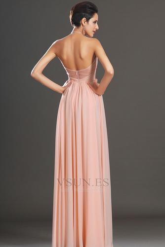 Vestido de noche elegante pequeñas Sin mangas Natural Corte-A Cremallera - Página 7