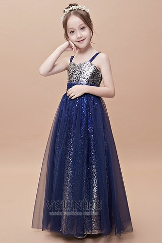 Vestido niña ceremonia Escote Cuadrado Corpiño Con lentejuelas tul Con lentejuelas - Página 1