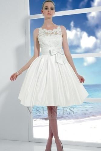 Vestido de novia Corte princesa Hinchado Reloj de Arena Natural Satén - Página 1