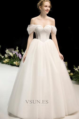 Vestido de novia Fuera de casa Drapeado Corte-A Hasta el suelo Sin mangas - Página 1