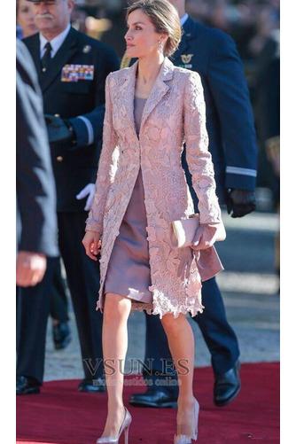 Vestido de madrina Formal 2 piezas Capa de encaje Encaje Camiseta Encaje - Página 2