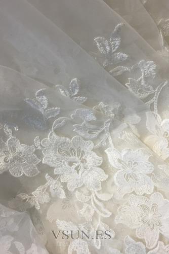 Vestido de novia Elegante Cremallera Escote con abertura Natural Encaje - Página 5