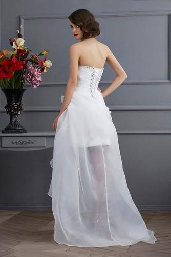 Vestido de novia Sin mangas Dobladillos Cintura Baja Escote Corazón - Página 4