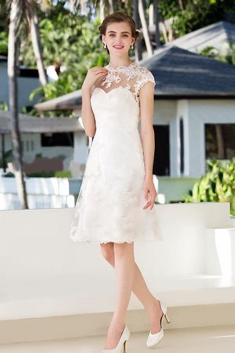 Vestido de novia Clasicos Espalda con ojo de cerradura Joya Apliques - Página 1
