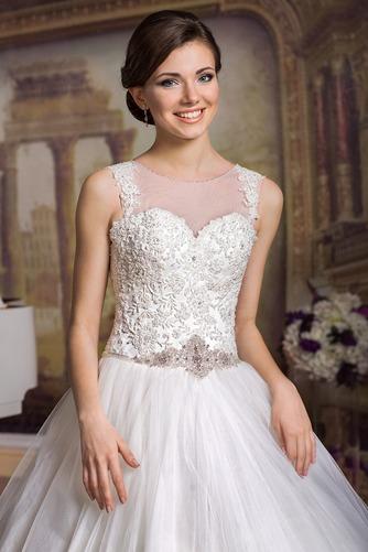Vestido de novia Cordón Apliques Joya largo tul Natural - Página 3