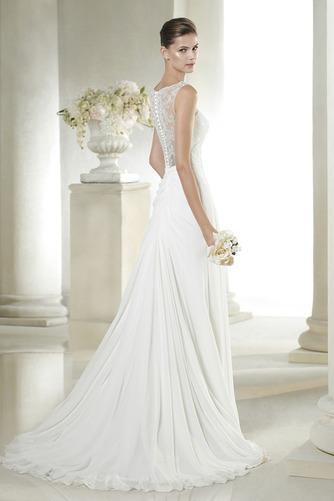 Vestido de novia Sencillo Gasa Apertura Frontal Verano Natural Cremallera - Página 2