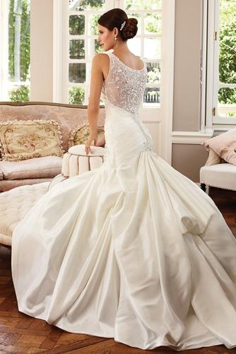 Vestido de novia Corte Sirena Sin mangas Formal Cremallera largo Escote en V - Página 2