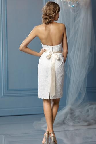 Vestido de novia Hasta la Rodilla Verano Natural Glamouroso Fajas Corte Recto - Página 2