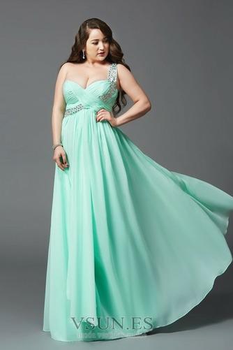 Vestido de noche Elegante Hasta el suelo Drapeado Blusa plisada Natural - Página 1