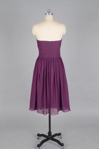 Vestido de dama de honor Verano Sin mangas Gasa Pera Sencillo ciruela persa - Página 3