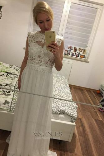 Vestido de novia Encaje Hasta el suelo Joya Fuera de casa Verano Natural - Página 1