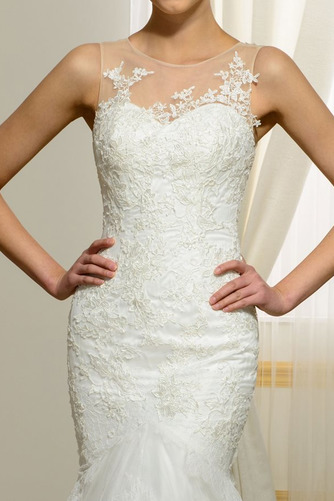 Vestido de novia Playa Invierno Barco Natural largo Tallas pequeñas - Página 4