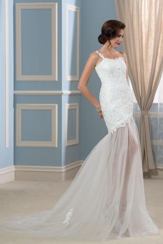 Vestido de novia largo Natural Verano Un sólo hombro Corte Recto Espalda Descubierta - Página 3