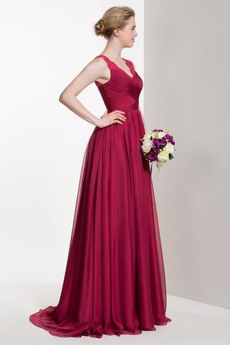 Vestido de dama de honor Verano Apliques Manzana Gasa Cola Barriba Elegante - Página 3