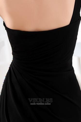 Vestido de fiesta Espalda medio descubierto Asimétrico Estilo Gasa Natural - Página 6