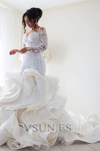 Vestido de novia Corte Sirena Pura espalda Iglesia Clasicos Botón Pomposo - Página 1