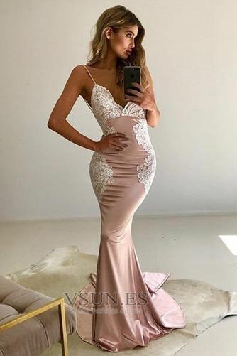 Vestido de fiesta Corte Sirena Tallas pequeñas Espalda Descubierta Baja escote en V - Página 4